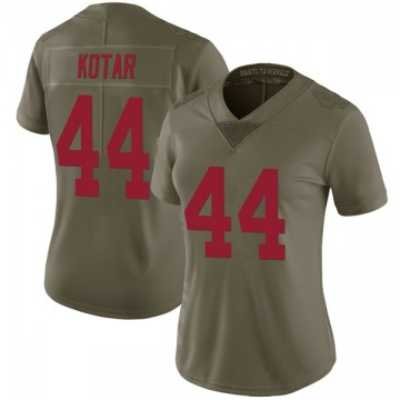 Women's New York Giants Doug Kotar Green Limited 2017 Salute to Service Jersey By Nike
