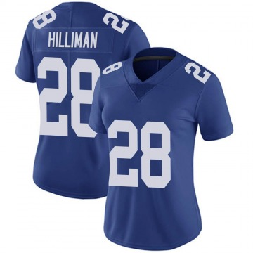 Women's New York Giants Jonathan Hilliman Royal Limited 100th Vapor Jersey By Nike