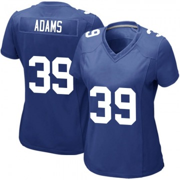 Women's New York Giants Keion Adams Royal Game Team Color Jersey By Nike