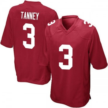 Youth New York Giants Alex Tanney Red Game Alternate Jersey By Nike