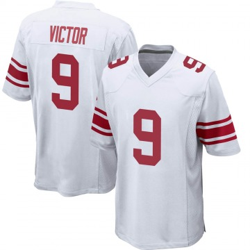Youth New York Giants Binjimen Victor White Game Jersey By Nike