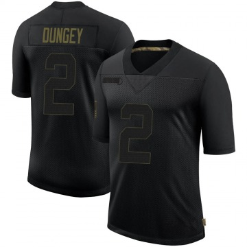 Youth New York Giants Eric Dungey Black Limited 2020 Salute To Service Retired Jersey By Nike