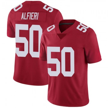 Youth New York Giants Joey Alfieri Red Limited Alternate Vapor Untouchable Jersey By Nike