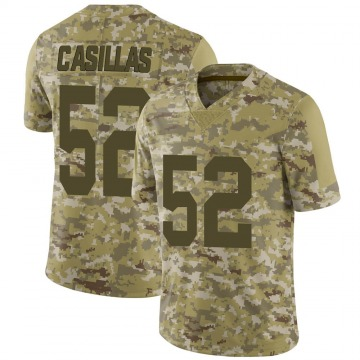 Youth New York Giants Jonathan Casillas Camo Limited 2018 Salute to Service Jersey By Nike