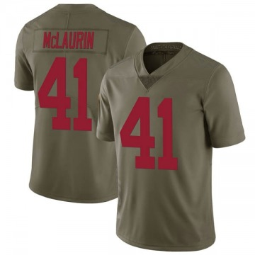 Youth New York Giants Mark McLaurin Green Limited 2017 Salute to Service Jersey By Nike